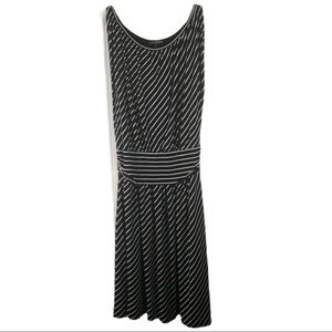 EXPRESS Stripe Black White Dress